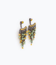 Image 1 of EARRINGS WITH CRYSTALS AND CHAINS from Zara