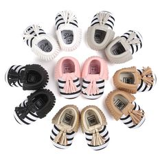 PU Leather Soft Stripe Moccasins - 6 Colors