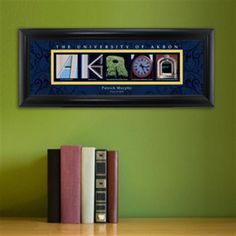 College Campus Art - University of Akron Free Personalization – GiftsEngraved