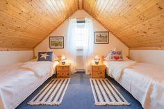 Ein gemütliches Schlafzimmer für Feriengäste unterm Dach