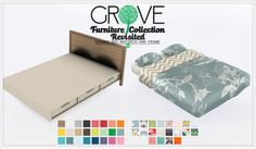 The Sims 4   Peace's Grove Furniture Set Single & Double bed frame & mattress   buy mode new objects room frames