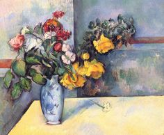 Paul Cezanne, Oil on Canvas, in a Private Collection This painting is considered one of Cezanne's most famous works of art. Paul Cezanne was born in Aix Provence, France. Cezanne Still Life, Paul Cezanne Paintings, Cezanne Art, Still Life Flowers, Images Vintage, Aix En Provence, Painting Still Life, Oil Painting Reproductions, Manet