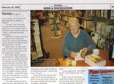 Second half of two-page spread in Brentwood chain of papers. Pic is of me at booksigning at Barnes & Noble.