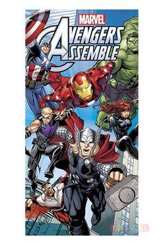 Serviette+de+plage+The+Avengers+Marvel