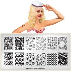 moyou Nail Art design Image Plates-Sailor collection