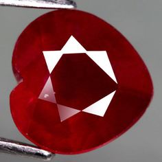 4.55 Ct. Magnificent! Natural Ruby Heart Facet Top Blood Red Madagascar #Gemnatural