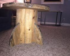 Mesa de centro madera Cable bobina por ScarCraft en Etsy