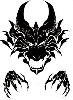 Viking Tattoos Discover Dragon head tribal by MisterSD on DeviantArt Dragon head tribal by MisterSD Dragon Head Tattoo, Tribal Dragon Tattoos, Dragon Tattoo Designs, Tribal Tattoo Designs, Viking Tattoos, Geometric Tattoos, 3d Tribal Tattoo, Tattoo Stencils, Stencil Art