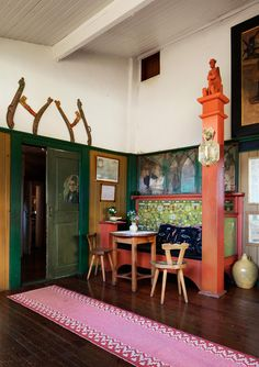 The Larsson home grew under the influence of a number of different inspirational sources from Swedish folk art and the English ideal home to Japanese ...