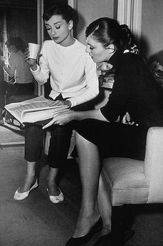 """9111-79 """"Funny Face"""" Audrey Hepburn and Madeline Hubbard"""