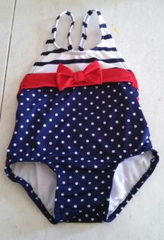 Nautical Swimsuit for a baby