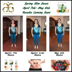 """Loving this lifestyle....Month 1 down and I'm enjoying the transition. I did have some slip ups but I feel great! I have so much energy it's unbelievable!!! I see a big difference and it only just the beginning of my journey. I'm getting fit for my grand babies, my family, myself and all of you! Anyone can be healthy and full of life if they just decide to do it!! Tomorrow starts Month 2 of """"Spring Slim down!!!"""" Who want a healthy lifestyle message or call me for details?"""