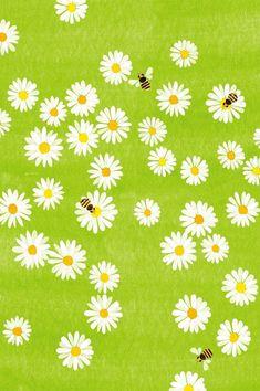 marguerites et les abeilles