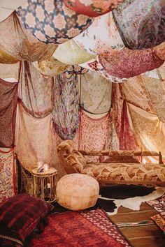 Free-Spirited Boho Wedding with Moroccan Canopy