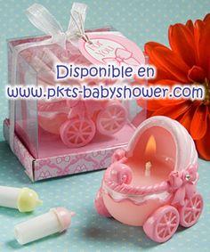 Recuerdos para Baby Shower - Carriola Rosa - Disponible en www.pkts-babyshower.com