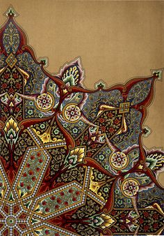 """cookedheads: """" """" Fig 11 Plate XIII 'Studies in Design', Christopher Dresser, 1876 © Victoria and Albert Museum, London (NAL """" """"there's a difference between knowing something is okay as is. Islamic Art Pattern, Arabic Pattern, Pattern Art, Art Patterns, Geometric Patterns, Turkish Design, Turkish Art, Arte Judaica, Turkish Pattern"""