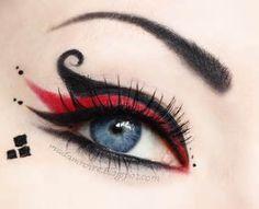 Love Harley Quinn inspired joker eye makeup - 2015 Halloween, clown so much. And Harley Quinn inspired joker eye makeup - 2015 Halloween, clown has been recomm… Makeup Geek, Beauty Makeup, Joker Makeup, Clown Makeup, Makeup Style, Beauty Art, Maquillage Harley Quinn, Makeup Gallery, Queen Of Hearts Costume