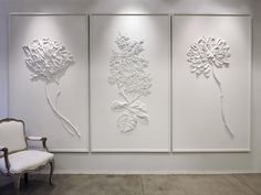 Bespoke Global - Product Detail - Fleur Blanche Triptych