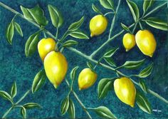 """Limones"" 70 x 50 cm Acrílico"