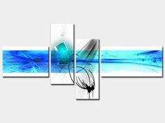 Tableau moderne Abstrait prêt à poser, dimensions : 200x100 cm