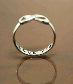 Vintage Silver Infinity Ring for Valentines Day