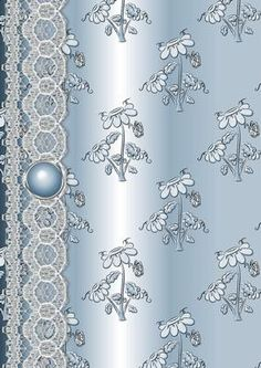 Daisy Splash n Lace in Aqua on Craftsuprint designed by Karen Adair - This is a beautiful background paper with a lovely Daisy embossed effect pattern, with a gorgeous lace border and gem embellishment. Look out for mu other sheets in various colours. Alos available as a 12 sheet pack, see cup149043_168. If you like this check out my other designs, just click on my name. - Now available for download!