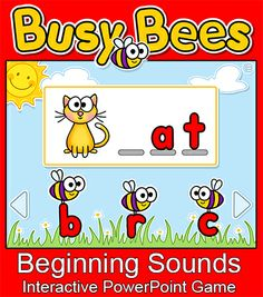 This fun interactive PowerPoint game will have your students excited to practice CVC words! Your students will love the cute bee characters, animations and sounds and will forget that they are learning! Use with a SmartBoard, Mimio, interactive whiteboard or personal computer. By Pink Cat Studio