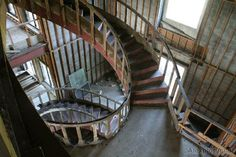Urban Exploration - Staircase at the unfinished would-be mansion in Sanger, TX