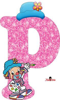 EUGENIA - KATIA ARTES - BLOG DE LETRAS PERSONALIZADAS E ALGUMAS COISINHAS: Alfabeto Patati e Patata Rosa Alphabet Wallpaper, Heart Wallpaper, Circus Theme, Circus Party, Arabic Alphabet For Kids, Alphabet Letters Design, School Frame, Send In The Clowns, Floral Letters