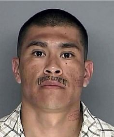 Some people get really nice creative tattoos done by real professions. These are some examples of the most epic tattoo fails . Bad Face Tattoos, Bad Tattoos Fails, Neck Tattoos, Sleeve Tattoos, Tatoos, Terrible Tattoos, Weird Tattoos, Worst Tattoos, Mustache Tattoo
