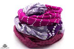 Rundschals von Lieblingsmanufaktur: hier ein lila Tuch mit pink