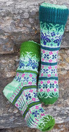 Ravelry: Summer Dream - Sommerdrøm pattern by Aud Bergo Crochet Socks, Knitting Socks, Hand Knitting, Knit Crochet, Knitting Patterns Free, Crochet Patterns, Ravelry, Winter Socks, Felted Slippers