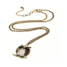 Amrita Singh Small Owl Necklace ($100) ❤ liked on Polyvore