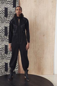 Zero + Maria Cornejo Fall 2021 Ready-to-Wear Collection - Vogue Fashion News, Fashion Beauty, Luxury Fashion, Zero Maria Cornejo, Denim Jumpsuit, Fashion Show Collection, Black Denim, Lounge Wear, Celebrity Style