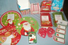 Lot of New Christmas Baking Items Cookie Cutters Bakery Bags Boxes More   eBay $9.99