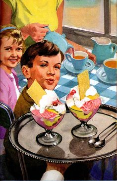 Vintage Ladybird Books 'Happy Holiday' (Peter and Jane) Tea time and ice cream Images Vintage, Vintage Pictures, Vintage Ads, Vintage Posters, Retro Images, Retro Ads, Vintage Artwork, Vintage Housewife, Vintage Ice Cream