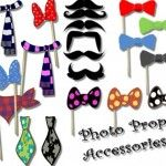free printable photo prop accessories - party printables - lots of ideas on this blog