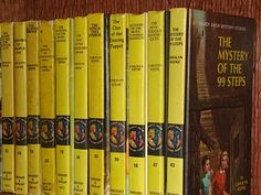 Nancy Drew Mystery Stories. My Papa bought me all the books in this series.