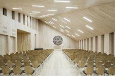 stave church, Reiulf Ramstad Arkitekter, Norway, Community Church Knarvik, Hordaland, modern church, contemporary church, community church, wooden church, pine church, pine, wood-clad church, wooden architecture, pre-weathered pine, modern church