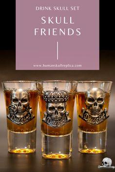 Original pasrty glass set Short Glass, Skull Decor, Halloween Skull, Skull And Bones, New Instagram, Skeleton, Tattoo, Glasses, Drinks