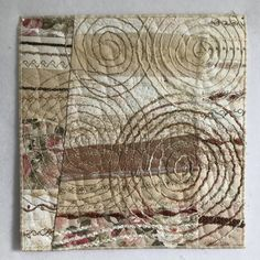 From the trial I made a new miniature Quilt. goldig x cm / . Moon River, Quilt Art, Inchies, Miniature Quilts, Vintage World Maps, Blog, Scrappy Quilts, December 12, Textile Art