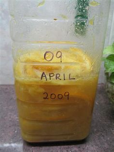 Must try soon. Homemade Citrus Enzyme Cleaner.