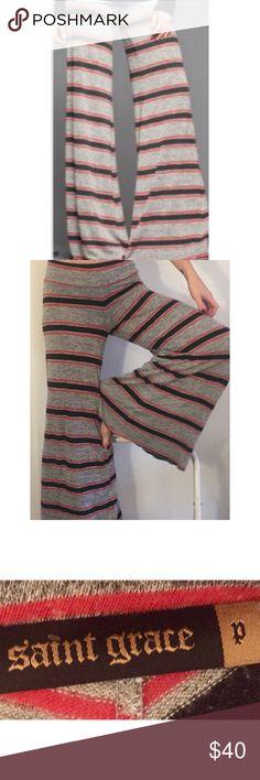 Saint Grace stripe wide leg pants Saint Grace stripe wide leg lounge pants Anthropologie Pants