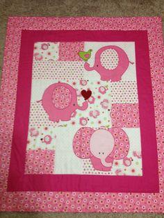 Elephant Baby Quilt. $25.00, via Etsy.