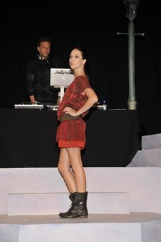 Sheer red top at the PSOS '12 Fall Fashion Show