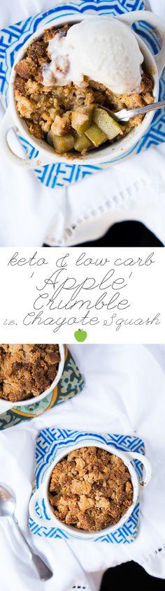 Gluten Free & Keto Apple Crumble (i.e. Chayote Crumble)  #keto #ketodessert #lowcarbdessert
