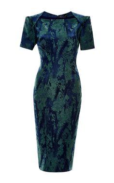 Floral-Jacquard Dress by Zac Posen - Moda Operandi