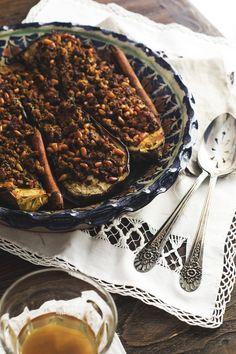 stuffed eggplant with lamb'n pine nuts | gnom-gnom.com