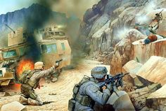 US Marines reflect an ambush from the Taliban in Afghanistan, 2010