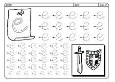 Grafismos de las letras - Secretos Marlove Math Equations, Words, Luigi, Learning Activities, Cursive Alphabet, Printable Letter Stencils, Index Cards, Horse